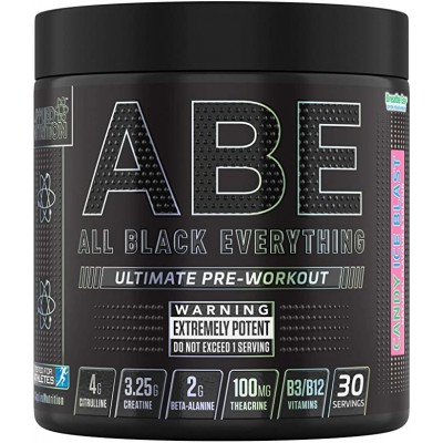 Applied Nutrition ABE - All Black Everything Pre Workout Energy - 315g (Candy Ice Blast)