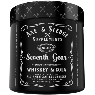 Axe & Sledge SEVENTH GEAR EXTREME PRE-WORKOUT - 294g (Whiskey Cola)