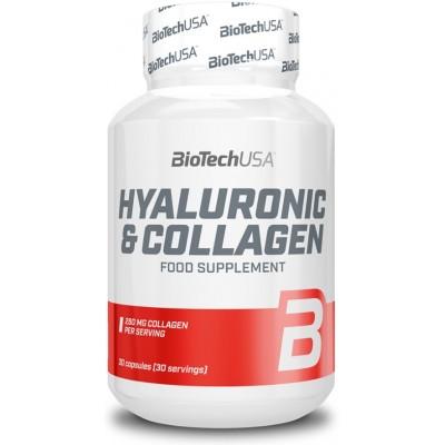 BiotechUSA Acid Hialuronic cu Colagen - 30 Capsule