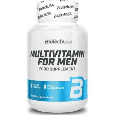 BiotechUSA Multivitamine pentru Barbati - 60 Tablete