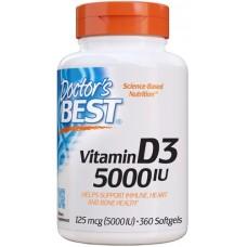 Doctor's Best  Vitamina D3 5000 IU - 360 Softgels