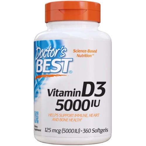 Doctor's Best  Vitamina D3 5000 IU - 360 Softgels