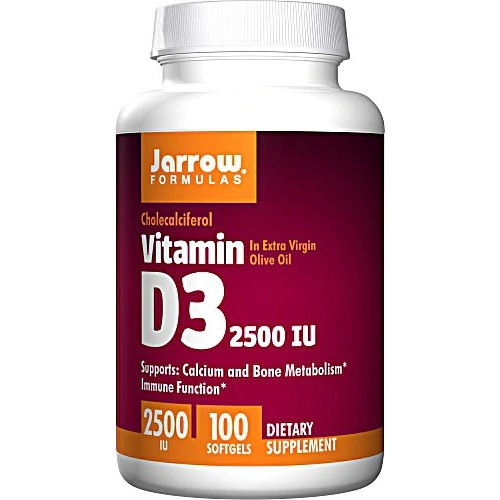 Jarrow Formulas	Vitamin D3 2500 IU - 100 Softgels