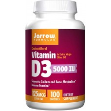 Jarrow Formulas Vitamina D3 5000 IU - 100 Softgels