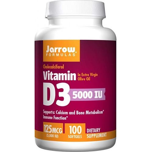 Jarrow Formulas Vitamina D3 5000 IU - 100 Softgels