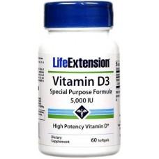 Life Extention Vitamina D-3 5000IU - 60 Softgels