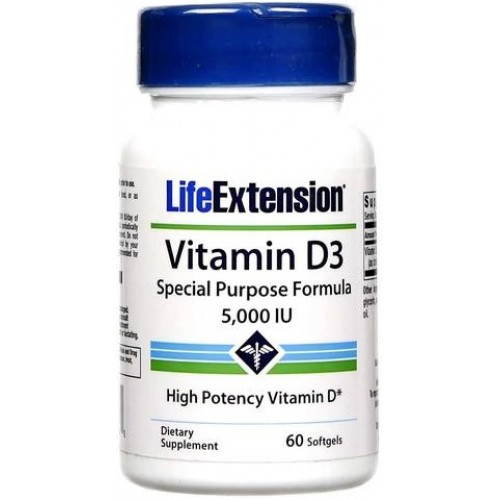 Life Extention Vitamina D-3 5000IU - 60 Softgels