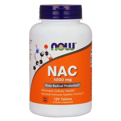 NOW N-Acetyl Cysteine (NAC) 1000mg - 120 Capsule vegetale