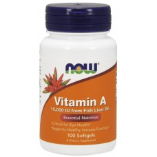 NOW Vitamina A 10,000 IU  - 100 Softgels