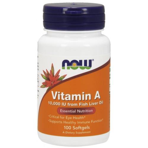 NOW Vitamina A 10,000 IU  - 100 Softgels