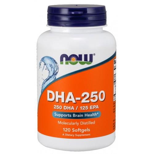NOW DHA-250 - 120 Softgels