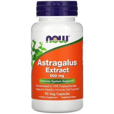 NOW Astragalus Extract 500mg - 90 Capsule vegetale