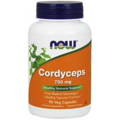NOW Cordyceps 750mg - 90 Capsule vegetale