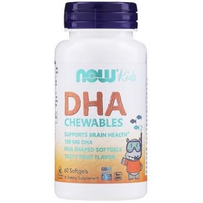 NOW DHA Kids (Omega-3 pentru Copii) - 60 Gelule masticabile
