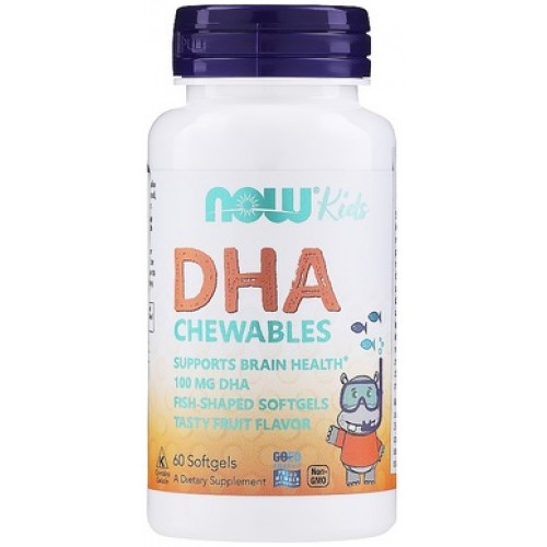 NOW DHA Kids - 60 Gelule masticabile