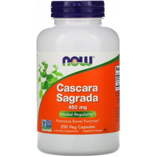 NOW Cascara Sagrada 450 mg - 250 Veg Capsule