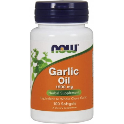 NOW Garlic Oil 1500 mg, Ulei Concentrat de Usturoi - 100 Softgels
