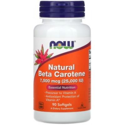 NOW Natural Beta Carotene 25000IU - 90 Softgels