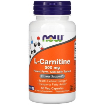 NOW L-Carnitina 500mg - 60 Capsule vegetale