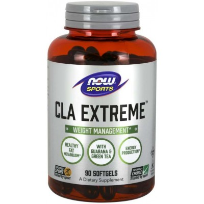 NOW CLA Extreme cu Guarana si Ceai verde - 90 Softgels
