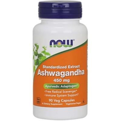 NOW Ashwagandha, Extract standardizat 450mg - 90 Capsule vegetale
