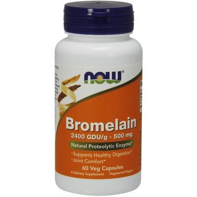 NOW Bromelaina 500mg 2400 GDU/g - 60 Capsule vegetale