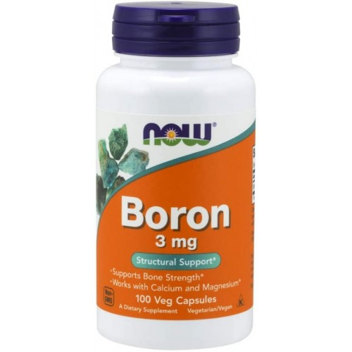 NOW BORON Non-GMO 3mg - 100 Capsule vegetale