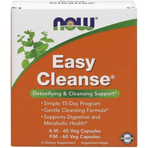 NOW Easy Cleanse, Detoxifiere AM/PM - 120 Capsule vegetale