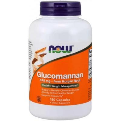 NOW Glucomannan, Controlul greutatii (Amorphophallus konjac) 575 mg - 180 Capsule