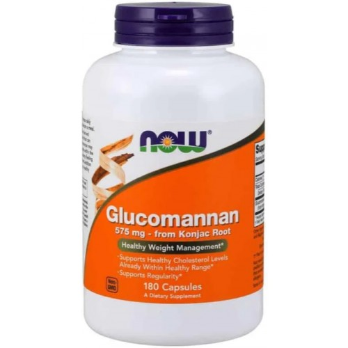 NOW Glucomannan 575 mg - 180 Capsule
