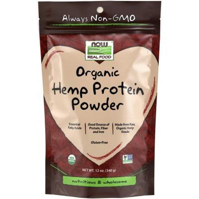 NOW Proteina Organica de Canepa, Fara Gluten - 340g