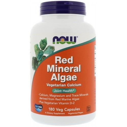 NOW Red Mineral Algae - 180 Capsule vegetale