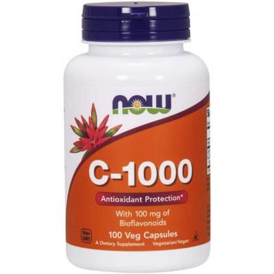 NOW Vitamina C-1000 cu Bioflavonoizi 100mg - 100 Capsule vegetale
