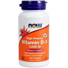 NOW Vitamina D-3 1000 IU - 360 Softgels