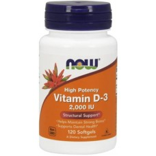 NOW Vitamina D-3 2000 IU - 120 Softgels