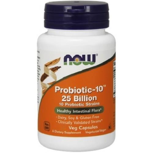 NOW Probiotic-10 25 Billion - 30 Capsule