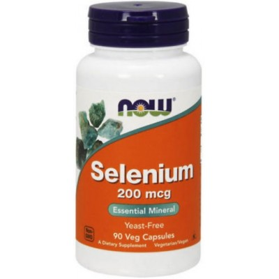 NOW Seleniu 200mcg - 90 Capsule vegetale