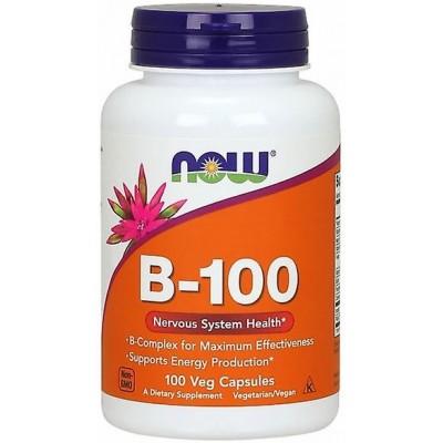 NOW Vitamina B-100 Complex - 100 Capsule vegetale