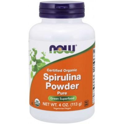 NOW Spirulina Organica Pudra  - 113g