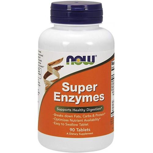 NOW Super Enzime - 90 Tablete