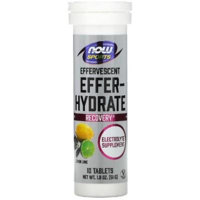 NOW Effer-Energy, Tablete hidratante cu electoliti - 10 Tablete