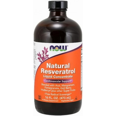 NOW Resveratrol natural, Concentrat lichid - 473ml