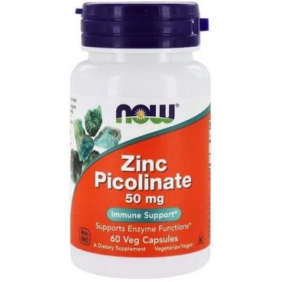 Now Foods Zinc Picolinat 50mg - 60 Capsule vegetale