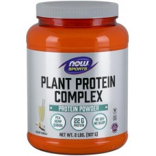 NOW Complex de Proteine din Plante Non-GMO cu aroma de Vanilie - 907g