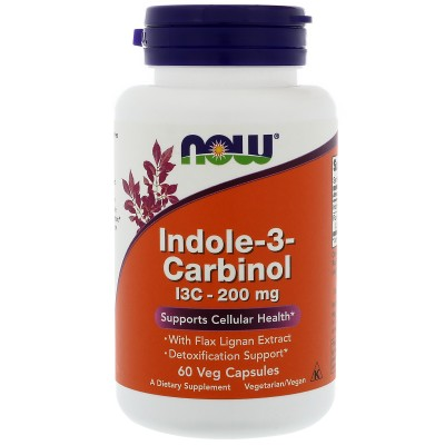 NOW Indole-3-Carbinol (I3C) 200mg - 60 Capsule vegetale