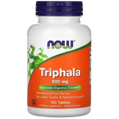 NOW Triphala 500mg, Detoxifierea tractului gastrointestinal - 120 Tablete