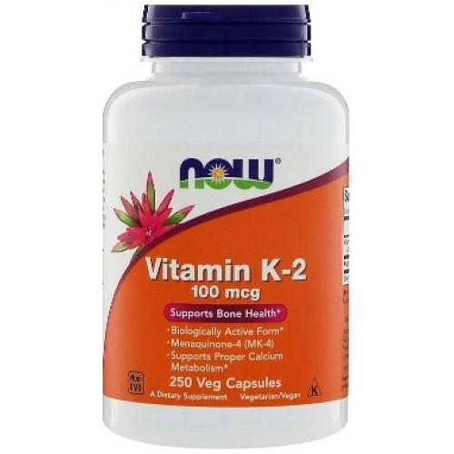 NOW Vitamina K-2 MK-4 100mcg - 250 Capsule vegetale