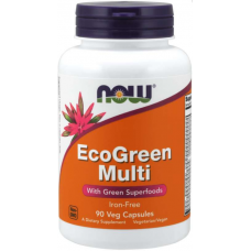 NOW Eco-Green Multivitamine si Minerale - 90 Capsule vegetale