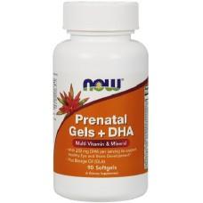 NOW Prenatal Gels + DHA - 90 Softgels