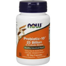 NOW Probiotic-10 25 Billion - 50 Capsule vegetale